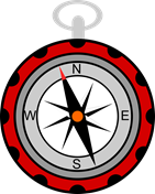 Compass showing North North West